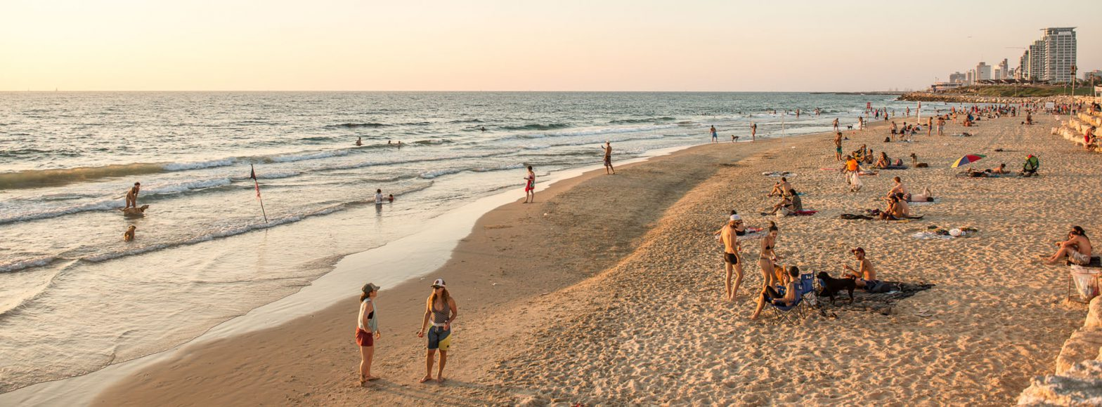 Tel Aviv Beach during Sunset